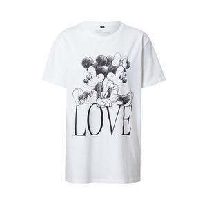 Merchcode Tricou 'Minnie Loves Mickey' alb / negru imagine