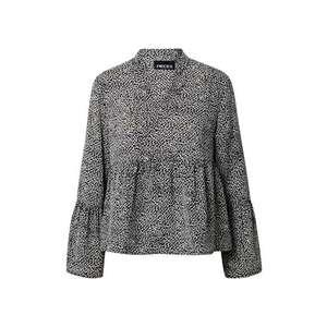 PIECES Bluză 'Monika' alb / negru imagine