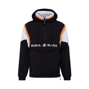 Karl Kani Geacă de primăvară-toamnă 'Retro Block Reversible' negru / alb / galben imagine