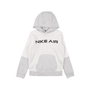 Nike Sportswear Bluză de molton negru / alb / gri imagine