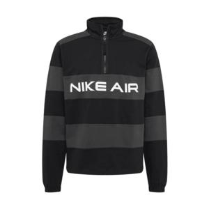 Nike Sportswear Bluză de molton gri închis / negru / alb imagine