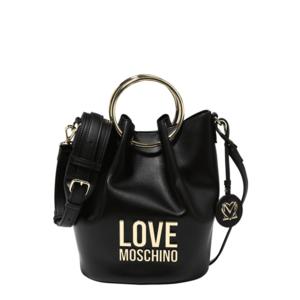 Love Moschino Geantă de umăr negru / auriu imagine