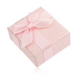 Cutiuţă de cadou pentru inel, roz, lucioasă, cu o fundă imagine