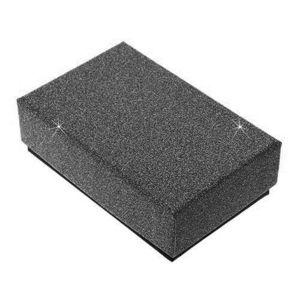Cutiuță neagră pentru colier sau set - suprafață strălucitoare imagine