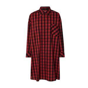 Ottod'Ame Rochie tip bluză 'CAMICIA' negru / roșu imagine