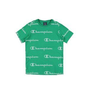 Champion Authentic Athletic Apparel Tricou verde / alb imagine