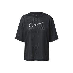 Nike Sportswear Tricou 'W NSW MESH TOP SS' negru / alb imagine