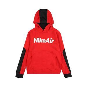 Nike Sportswear Bluză de molton alb / roșu / negru imagine