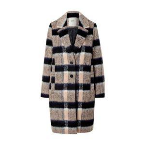 Palton lung cu model in carouri imagine