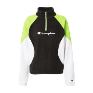 Champion Authentic Athletic Apparel Bluză de molton verde / negru / alb imagine
