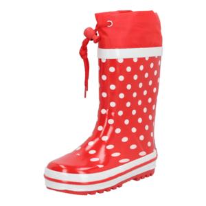 PLAYSHOES Cizme de cauciuc roșu / alb imagine