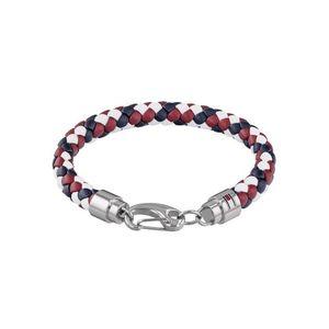 TOMMY HILFIGER Brățară 'Casual Core 2790046' albastru închis / roşu închis / argintiu / alb imagine