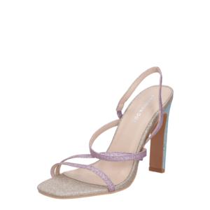 GLAMOROUS Sandale cu baretă roz / albastru / bej imagine