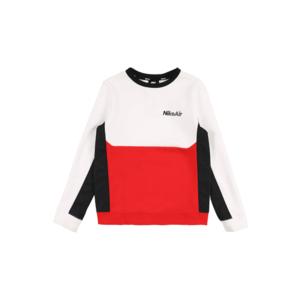 Nike Sportswear Bluză de molton negru / alb / roșu imagine