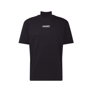 HUGO Tricou 'DAKAYO' negru / alb imagine