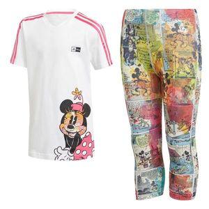 ADIDAS PERFORMANCE Costum de trening 'Minnie Mouse' alb / culori mixte / roz imagine