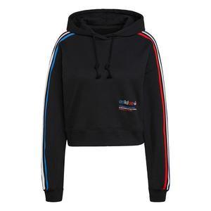 ADIDAS ORIGINALS Bluză de molton negru / alb / albastru cer / roși aprins imagine
