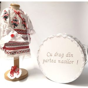 Set Traditional Botez Fetita - Costumas + Cutie trusou 5 imagine
