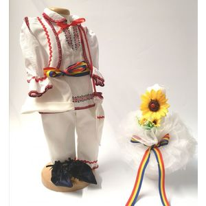 Set Traditional Botez Baiat - Costumas + Lumanare 6 imagine