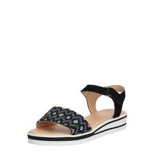 ARA Sandale cu baretă alb / negru imagine
