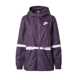 Nike Sportswear Geacă de primăvară-toamnă mov închis / alb imagine