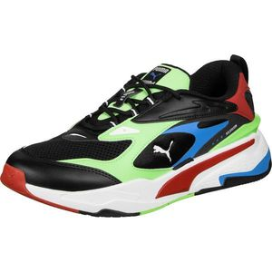 PUMA Sneaker low 'RS-FAST' negru / verde neon / albastru deschis / roşu închis / alb imagine