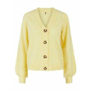 PIECES Geacă tricotată galben / maro imagine