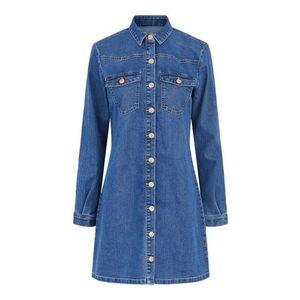 PIECES Rochie tip bluză 'Perry' denim albastru imagine
