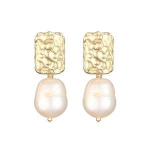 ELLI PREMIUM Cercei auriu / alb perlă imagine