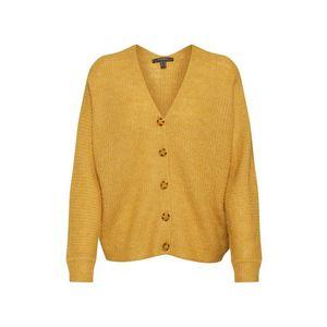 Esprit Collection Geacă tricotată galben imagine