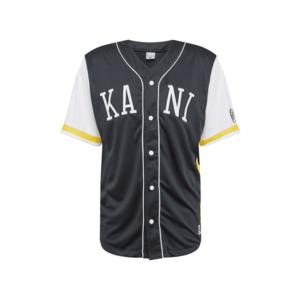 Karl Kani Tricou 'College Baseball' alb / galben / albastru închis imagine