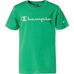Champion Authentic Athletic Apparel Tricou verde iarbă / alb / roșu imagine