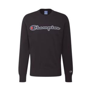 Champion Authentic Athletic Apparel Bluză de molton negru / alb / albastru închis imagine
