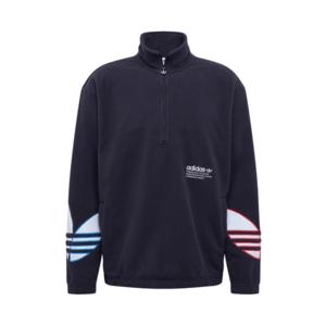 ADIDAS ORIGINALS Bluză de molton negru / alb / albastru / roșu imagine