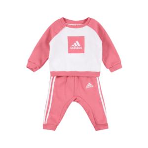 ADIDAS PERFORMANCE Costum de trening roze / alb imagine