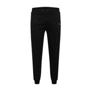 River Island Big & Tall Pantaloni negru / alb imagine