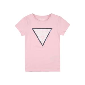 GUESS KIDS Tricou roz / argintiu / alb imagine