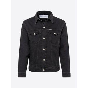 Calvin Klein Jeans Geacă de primăvară-toamnă 'FOUNDATION SLIM DENIM JACKET' negru imagine
