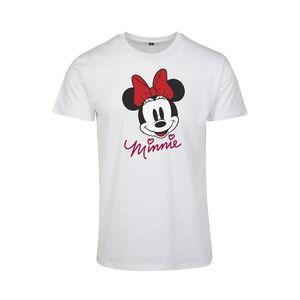 Merchcode Tricou 'Minnie Mouse' alb / negru / roși aprins / roșu vin imagine