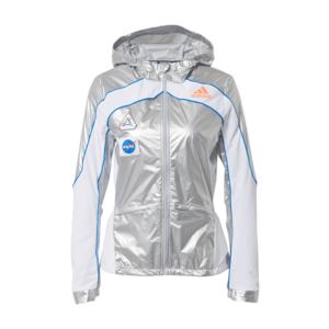 ADIDAS PERFORMANCE Geacă sport 'Marathon Space Race' argintiu / alb / albastru imagine