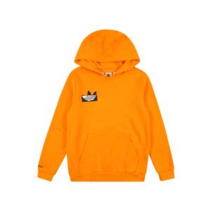 ADIDAS ORIGINALS Bluză de molton portocaliu deschis / alb / negru imagine