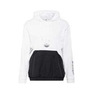 ADIDAS ORIGINALS Bluză de molton alb / negru imagine