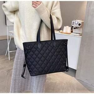 Geantă neagră material textil tip shopper Moena imagine