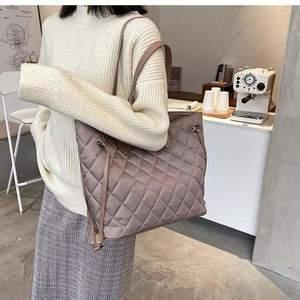 Geantă nude material textil tip shopper Moena imagine