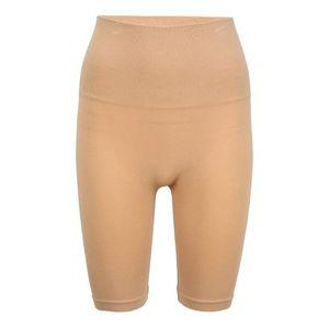 PIECES Pantaloni modelatori maro imagine
