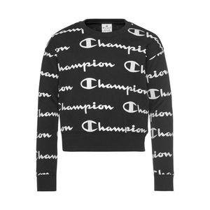 Champion Authentic Athletic Apparel Bluză de molton 'Crewneck' alb / negru imagine