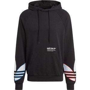 ADIDAS ORIGINALS Bluză de molton negru / alb / roșu deschis / albastru imagine