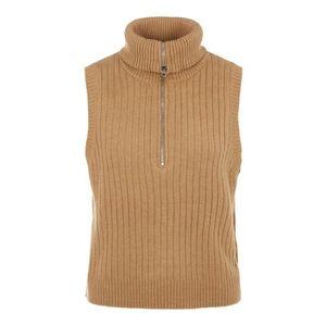 PIECES Vestă tricotată 'Cangi' maro imagine