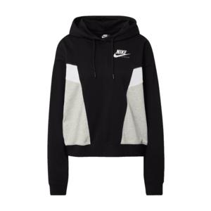 Nike Sportswear Bluză de molton gri / alb / negru imagine