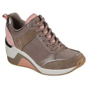 Skechers pudrate adidașii cu platformă Million High N Fly Taupe - 41 imagine